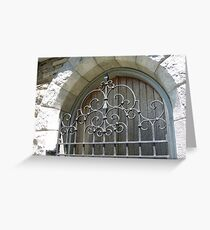 Gorgeous Wrought Iron Door, Plainfield, CT Greeting Card