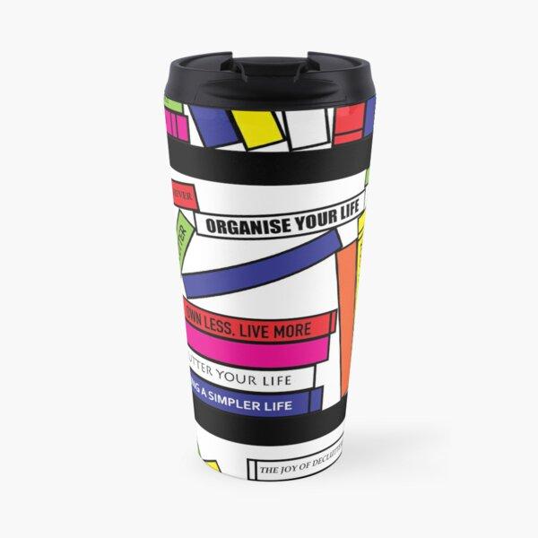 Pop Art Bookshelf Travel Mug