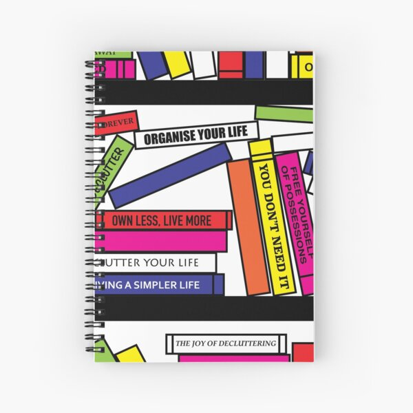 Pop Art Bookshelf Spiral Notebook