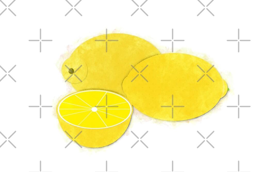 Lemons Watercolor by Colleen Cornelius