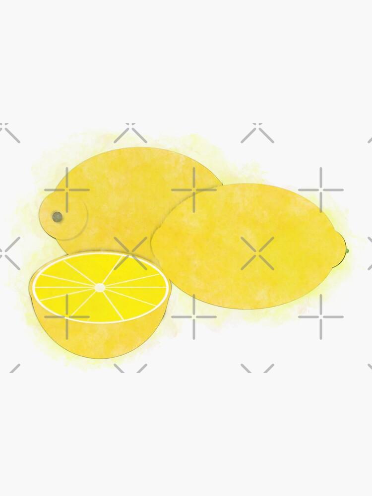 Lemons Watercolor by ButterflysAttic