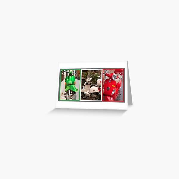 Vespa Triptych (best viewed larger) Greeting Card