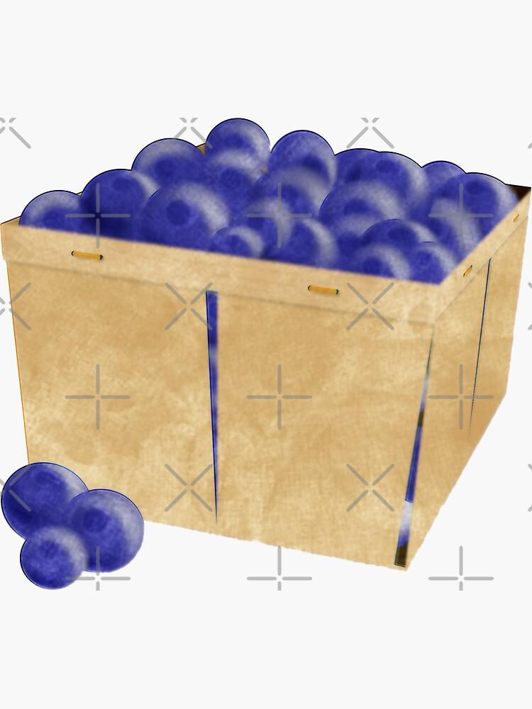 Basket of Blueberries Watercolor by ButterflysAttic
