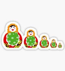 Cute Russian nesting dolls Sticker