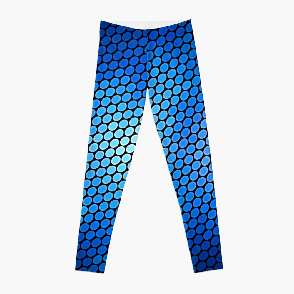Blue LED Abstract Art Design Leggings