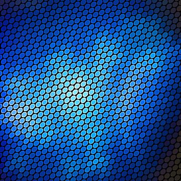 Blue LED Abstract Art Design by CreatedProto