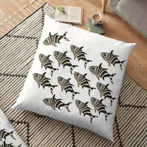 Zebrafish11 White Background Floor Pillow