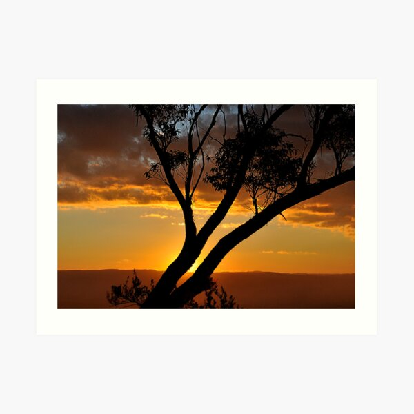 Blackheath Lookout NSW Australia - At the End of a Perfect Day Art Print