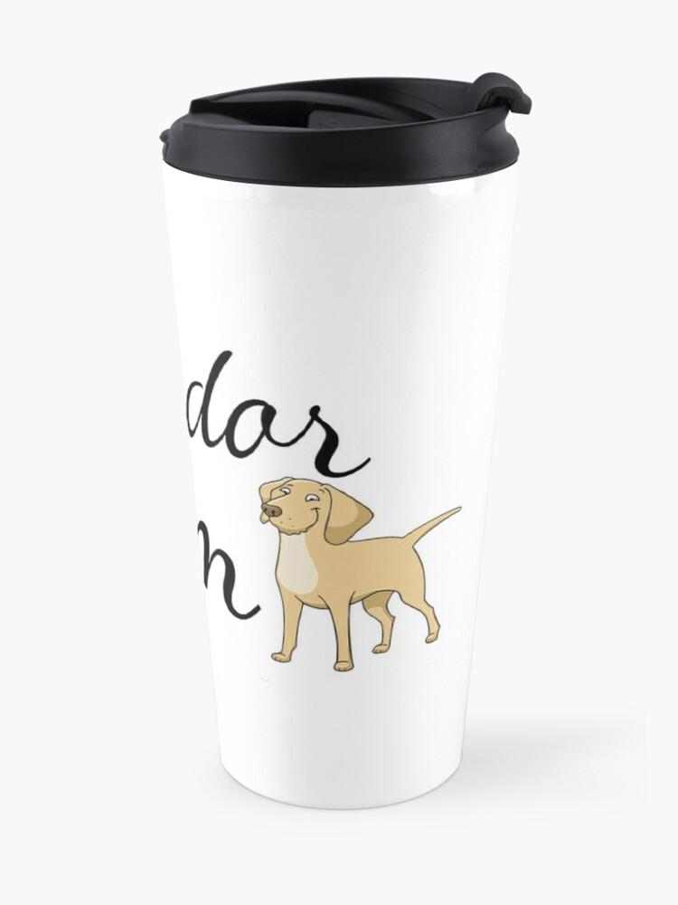 Alternate view of Labrador Mom Travel Mug