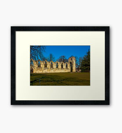 Ruins of St Mary's Abbey  -  York Framed Print