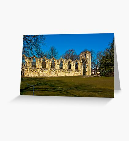 Ruins of St Mary's Abbey  -  York Greeting Card