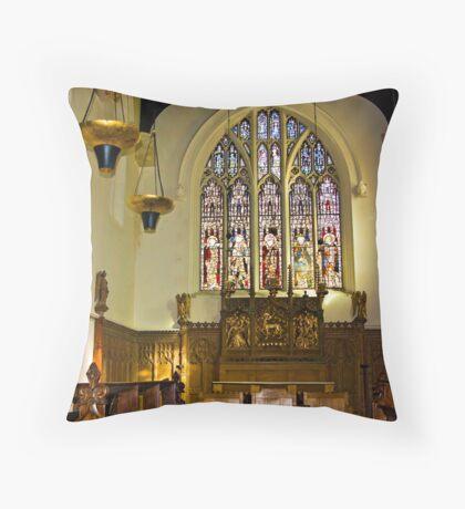 St Olave's - Marygate - York Throw Pillow