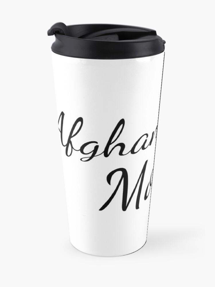 Alternate view of Afghan Hound Mom Travel Mug