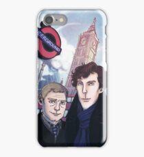 Sherlock and John in London iPhone Case/Skin