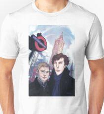 Sherlock and John in London Unisex T-Shirt