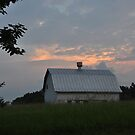 The Barn Down the Road at Sunrise by mltrue