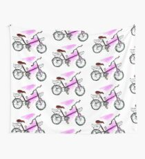 Painted Bicycle Wall Tapestry