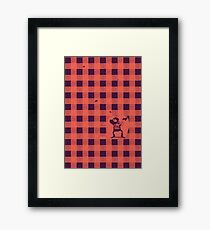 Almost a lumberjack pattern Framed Print