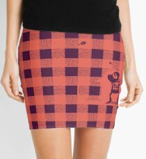 Almost a lumberjack pattern Mini Skirt