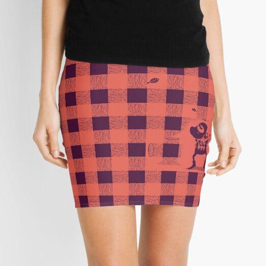 Almost a lumberjack pattern Mini Skirt