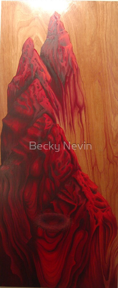 Cervix, oil on board, 2010 by Becky Nevin