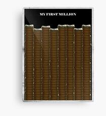 Lienzo Mi primer millón - Pablo Escobar