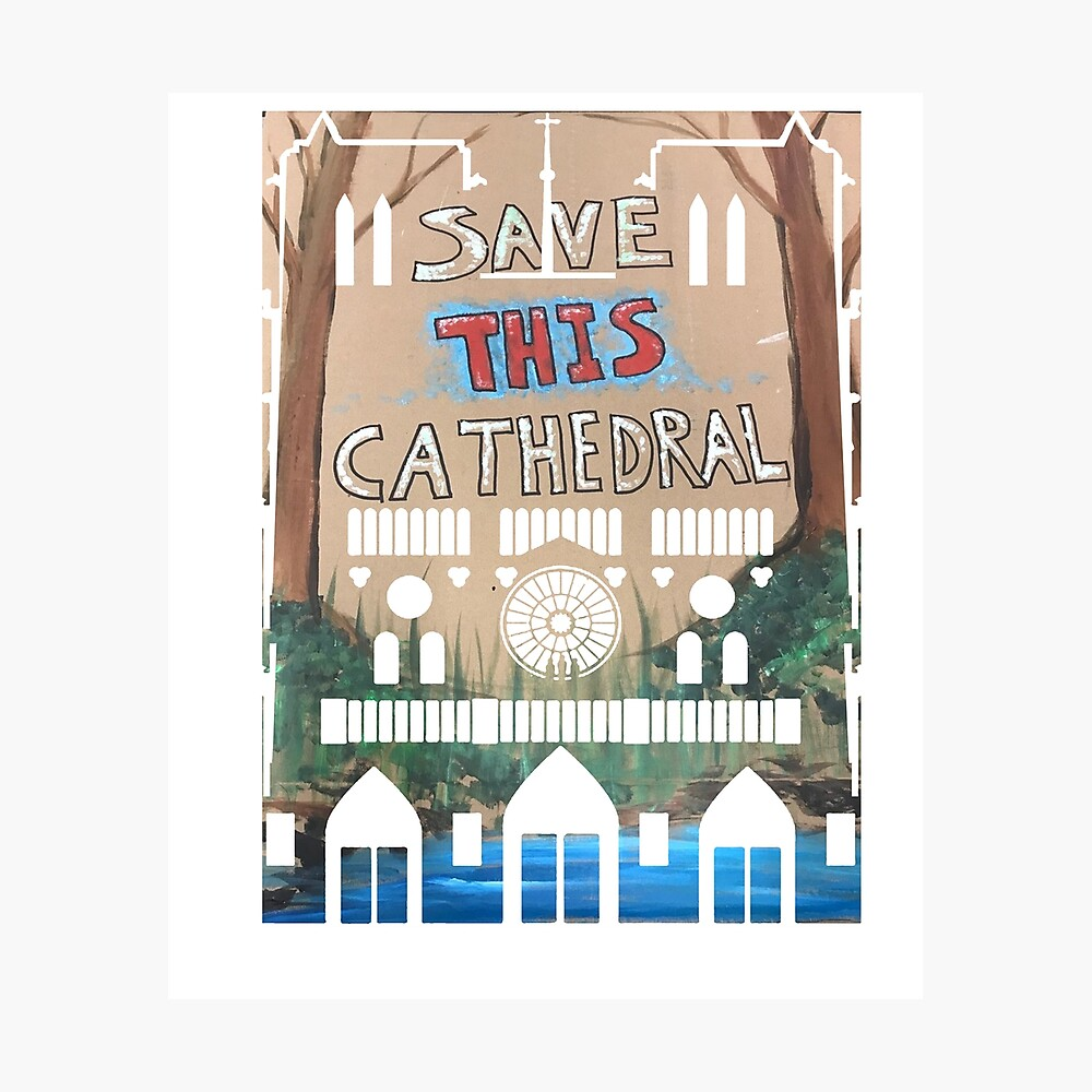 Save this cathedral - March for science 2019 Fotodruck
