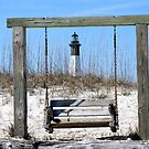 Tybee Island Lighthouse with Swing by kinz4photo