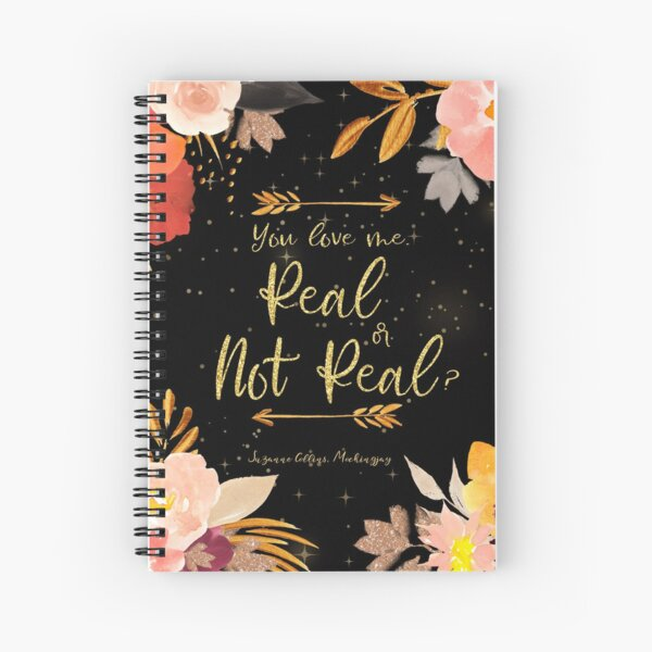 Real or Not Real Spiral Notebook