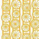 Orbit - Yellow & White Large-Scale Geometric by Hiirikki