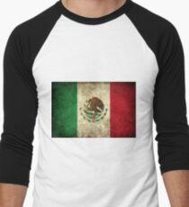 Vintage Mexican Flag Men's Baseball ¾ T-Shirt