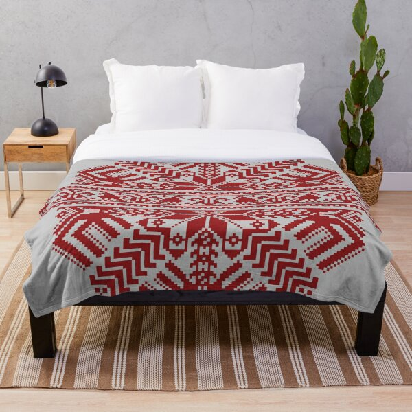 Baltic Traditional Ornament. Latvian Throw Blanket