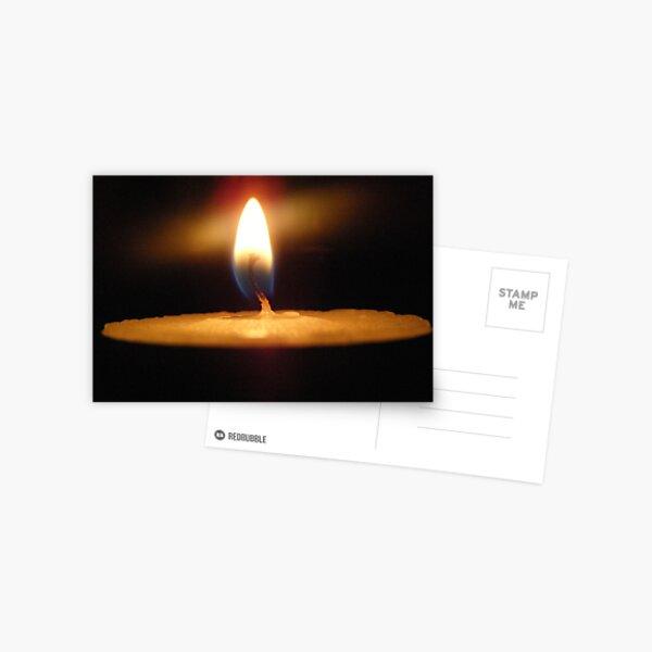 Tealight Burning Postcard