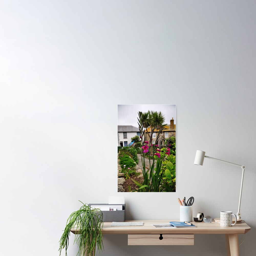 Flowers In a Border Poster