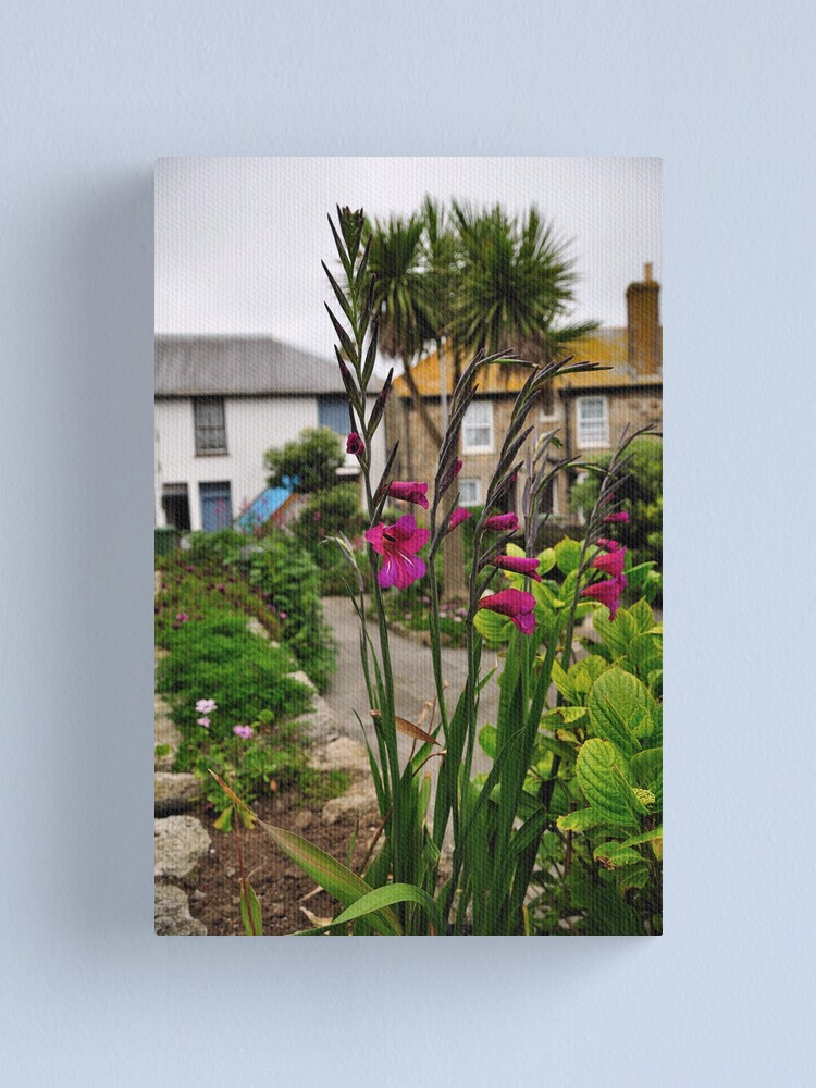 Alternate view of Flowers In a Border Canvas Print