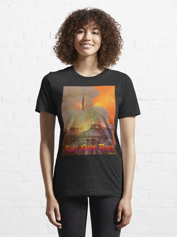 Alternate view of Notre Dame Fire Essential T-Shirt
