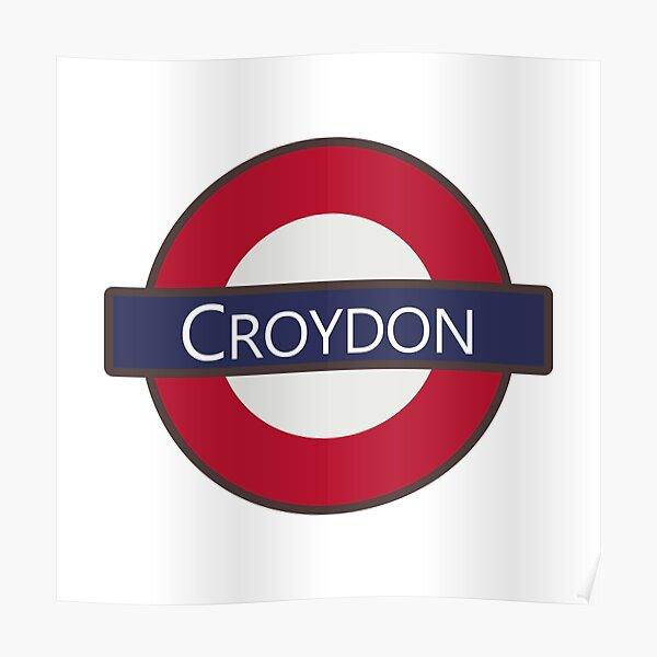 Croydon Underground Tube Logo design Poster