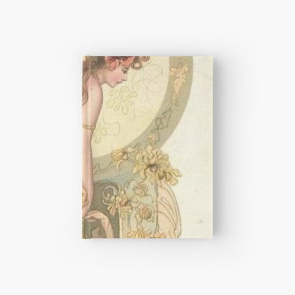 Painting, flower, dress, fashion, art, women, beauty, girls, femininity Hardcover Journal