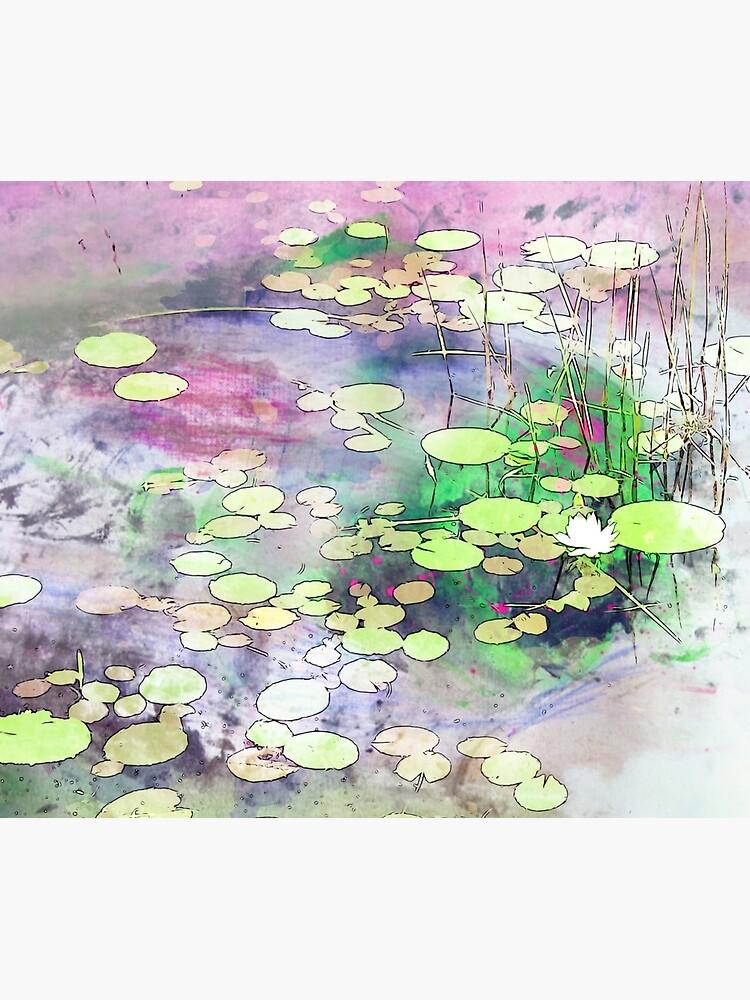 Lilypads on a Still Lake by KnutsonKr8tions