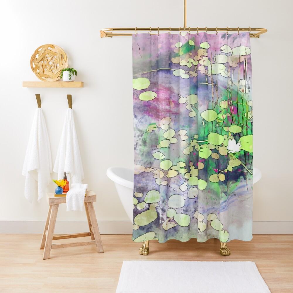 Lilypads on a Still Lake Shower Curtain