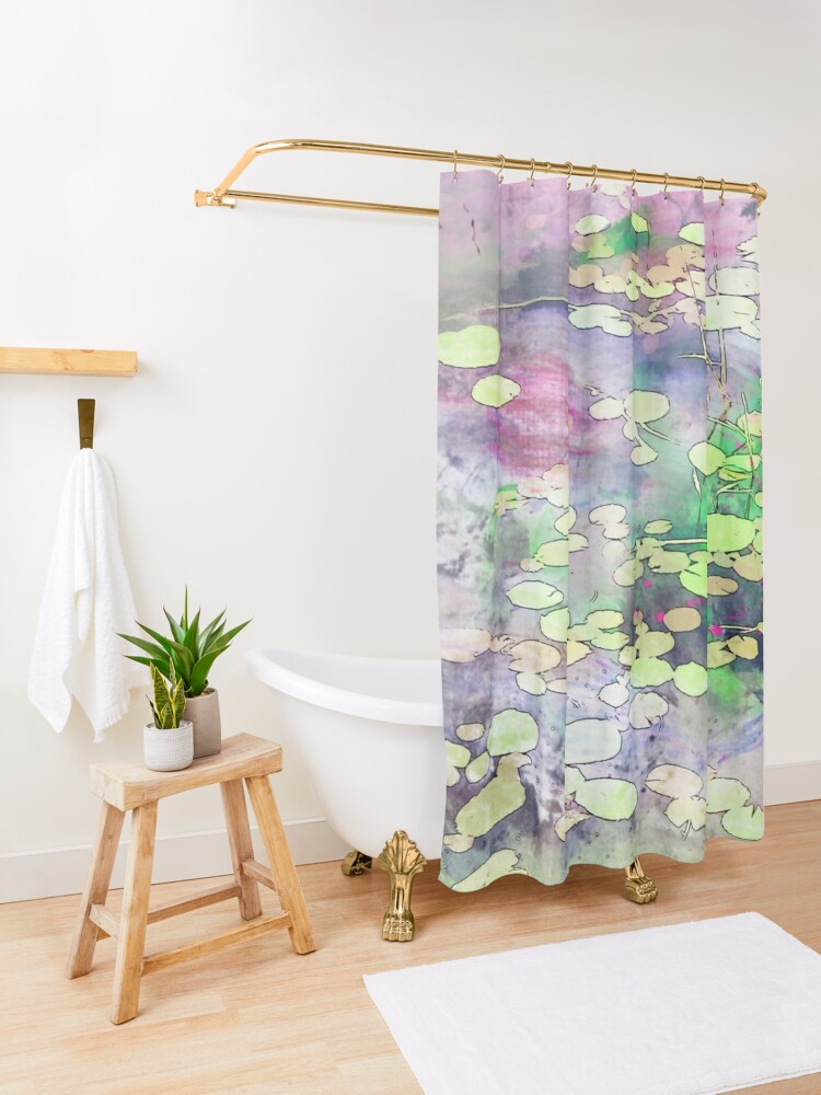 Alternate view of Lilypads on a Still Lake Shower Curtain
