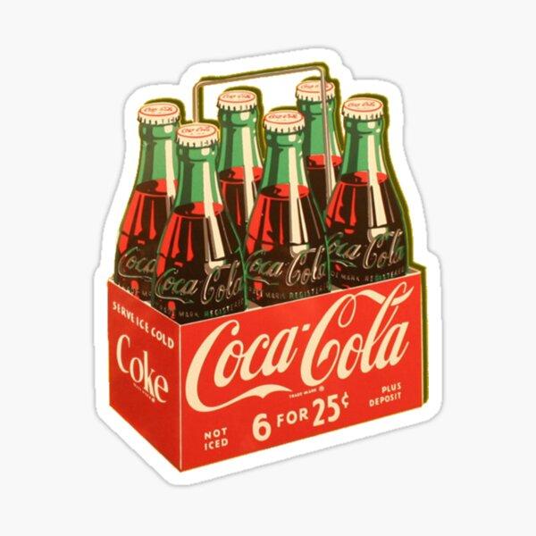 Coca Cola Vintage Bottle Six Pack  Sticker