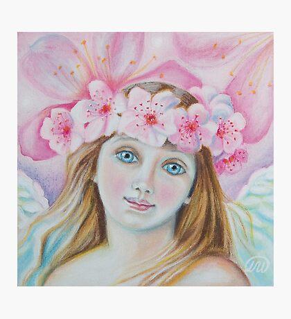 Cherry Blossom Angel  Photographic Print