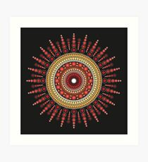 Red Star Burst Art Print