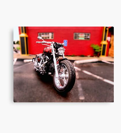 Red harley Canvas Print