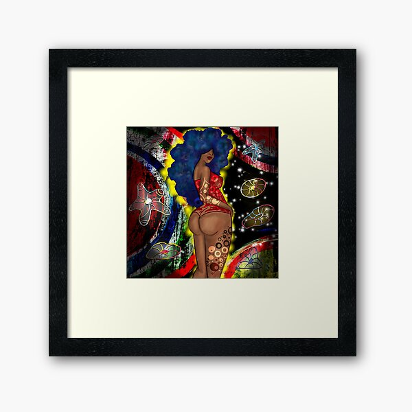 Melanin Space Goddess  Framed Art Print