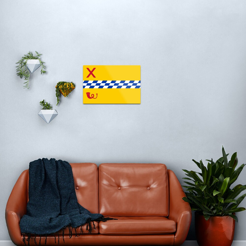 Flag of Woerden, Netherlands Metal Print