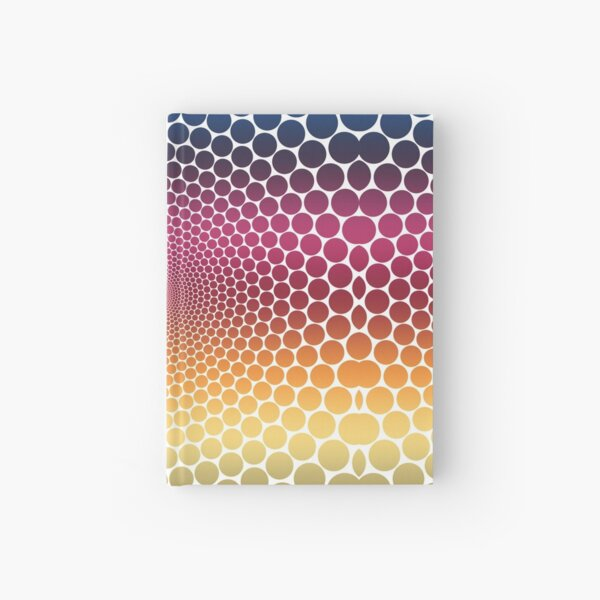Optical Illusion Linear Gradient (Clear/White) Hardcover Journal