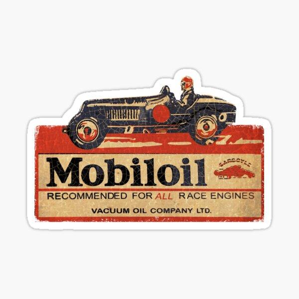 Mobiloil vintage race car usa Sticker
