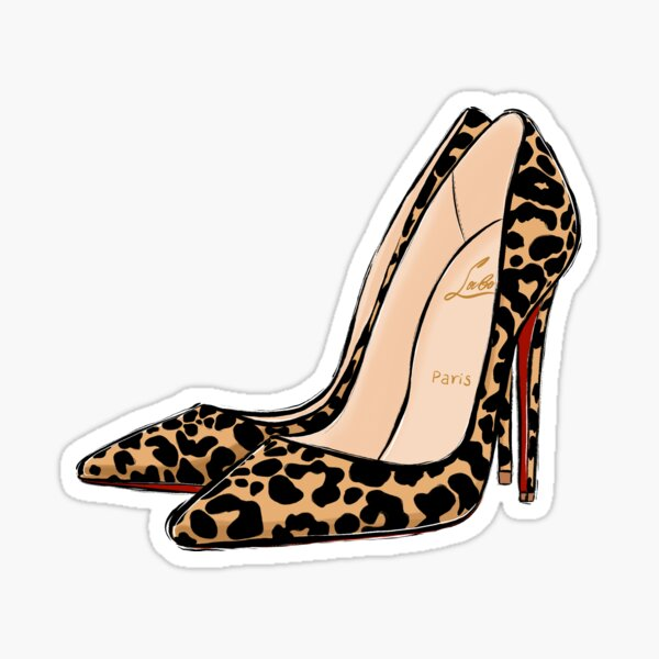 red soles high heels Sticker